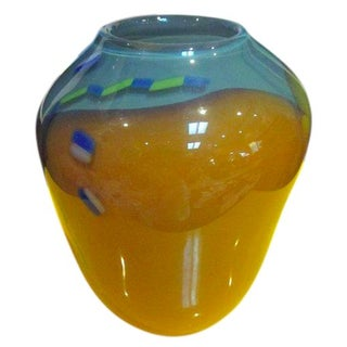 Signed Hand Blown Art Glass Kolk '87
