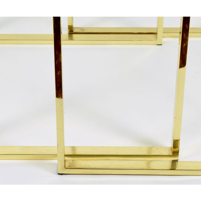 Pair of Brass & Glass Modernist Nesting Tables - Image 7 of 8