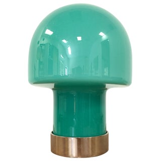 Vintage Laurel Glass Blown Mushroom Lamp