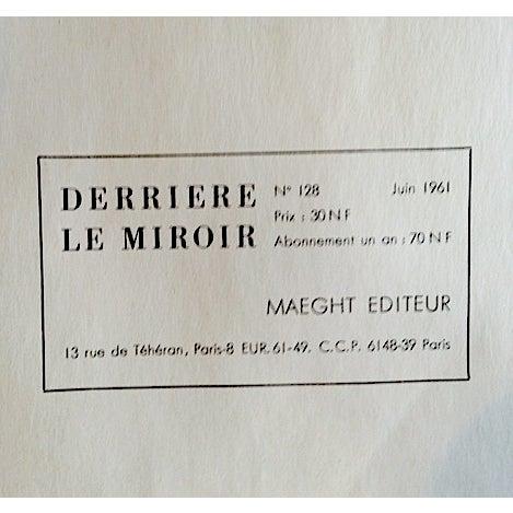 Original 1961 Miro Poster Derriere Le Miroir - Image 6 of 6