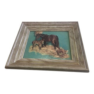Framed Mare, Fowl Dog & Puppy Print
