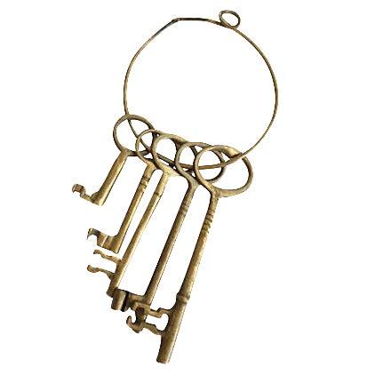 Brass Skeleton Keys on Ring - Image 1 of 2