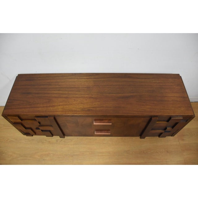 Lane Brutalist Console Credenza - Image 7 of 10