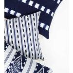 Image of Striped Indigo Handwoven Guatemalan Pillow