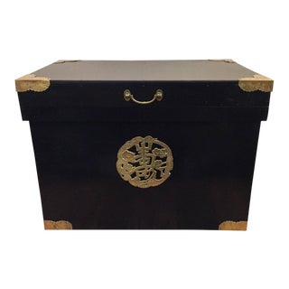 Ebonized Asian Trunk
