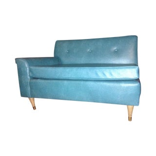 Vintage Turquoise Leather Chair