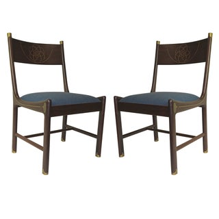 Rare 1970 Pair of Ib Kofod-Larsen for Selig Chairs
