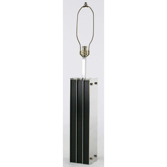 Laurel Lamp Chrome and Ebonized Oak Table Lamp - Image 2 of 5