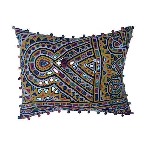 Indian Mirrored Gypsy Pillow - Image 1 of 5