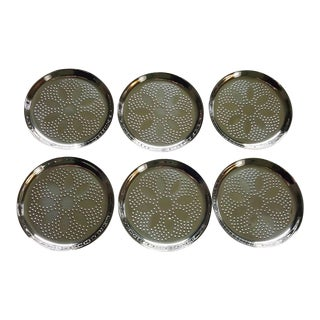 WMF Cromargan Steel Coasters - Set of 6