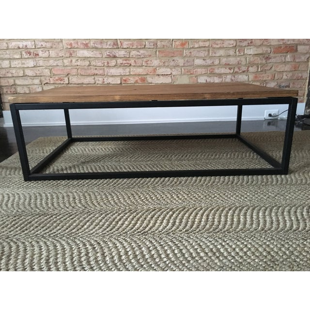 ABC Carpet & Home Wood and Steel Coffee Table - Image 5 of 8
