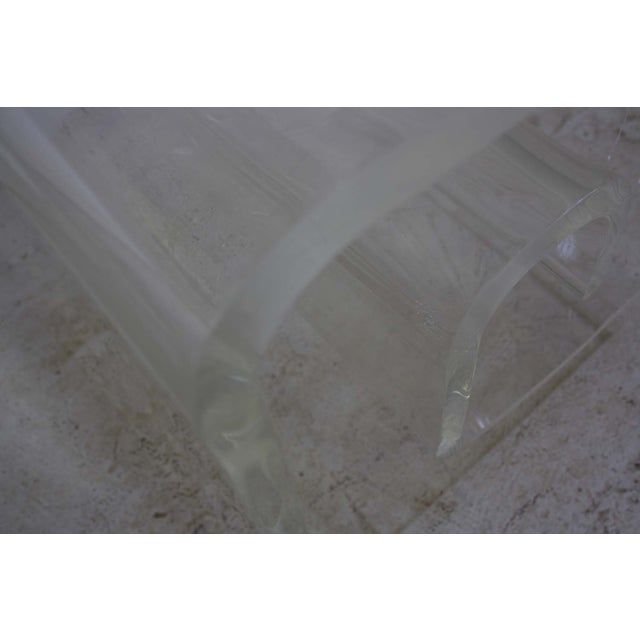 Lucite Spiral Side Table - Image 6 of 10