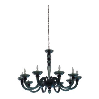Magnificent Smoked Murano Glass Chandelier in Manner of Venini