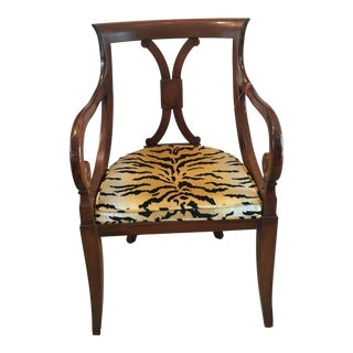 Tiger Upholstered Arm Chair