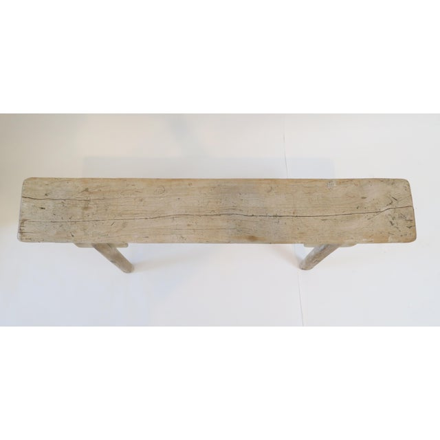Image of 19th Century Oak Mortised Bench