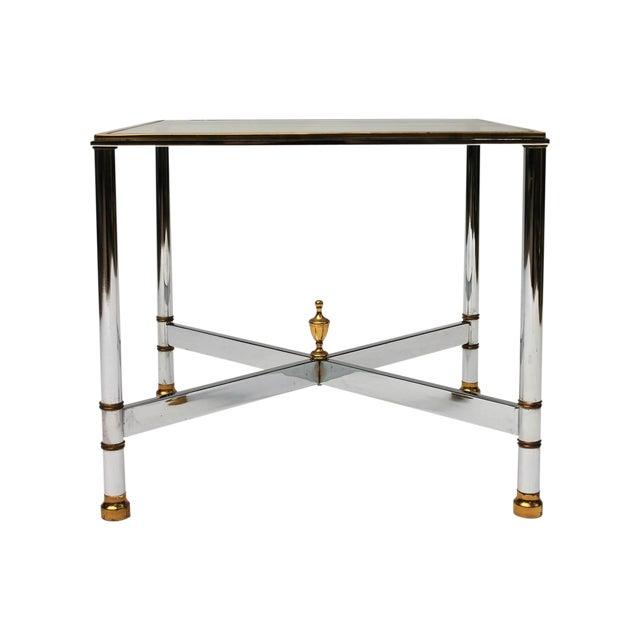 Petite Brass & Steel Side Table - Image 1 of 8