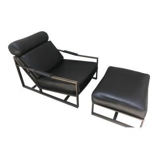 Milo Baughman for Thayer Coggin Steel Lounge Chair