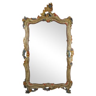 1920's Italian Polychrome Mirror