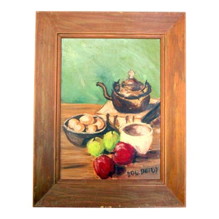 Vintage Oil Painting Tablescape 2