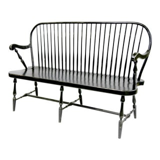 Traditional Windsor Style Amish Bench