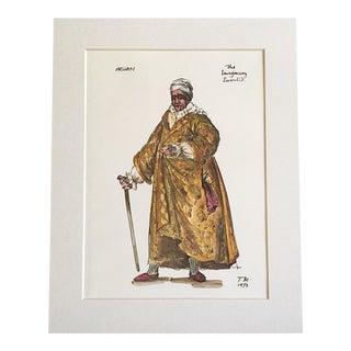 "Vintage Stratford Festival Design Folio, Moliere's Argan, ""Imaginary Invalid"" Costume Print"