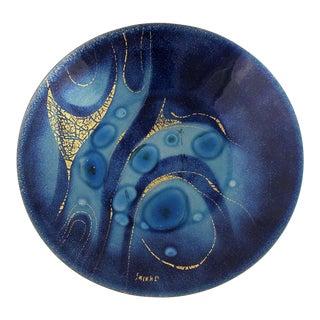 Vintage Mid-Century Sascha Brastoff Royal Blue Enamel Plate