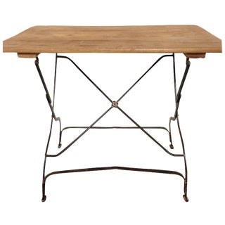Vintage French Folding Picnic Table