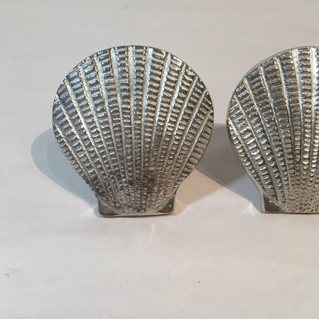 Silver Metal Shell Napkin Rings - Set of 8 - Image 4 of 6