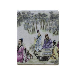 Chinese Scenery Ceramic Container