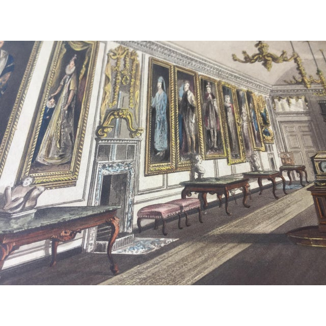 1819 Colored Engravings : English Formal Interiors - a Pair - Image 5 of 11