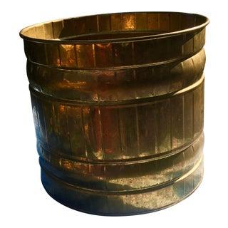 Vintage India Import Brass Planter
