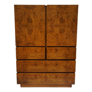Milo Baughman for Lane Olivewood Burl Wardrobe