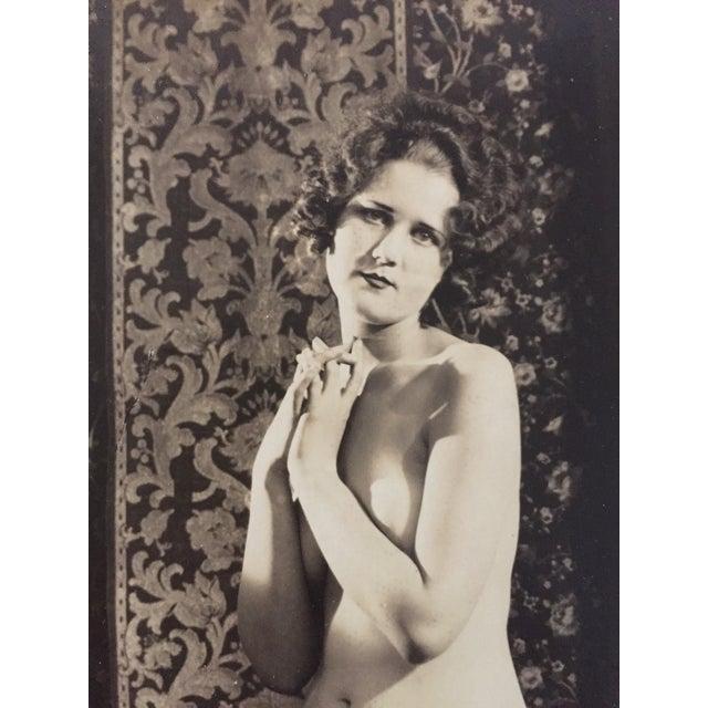 Vintage Art Deco Photo Nude Woman C. 1920 - Image 4 of 4