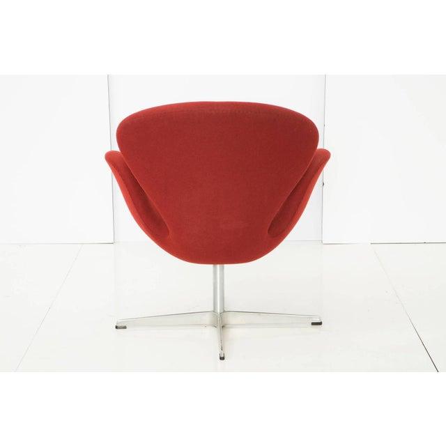 Arne Jacobsen for Fritz Hansen Red Wool Swan Chair - Image 3 of 5