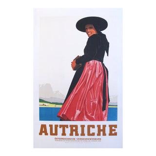 1930s Austrian Art Deco Travel Poster, Autriche