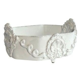 Ornate French White Ceramic Bowl