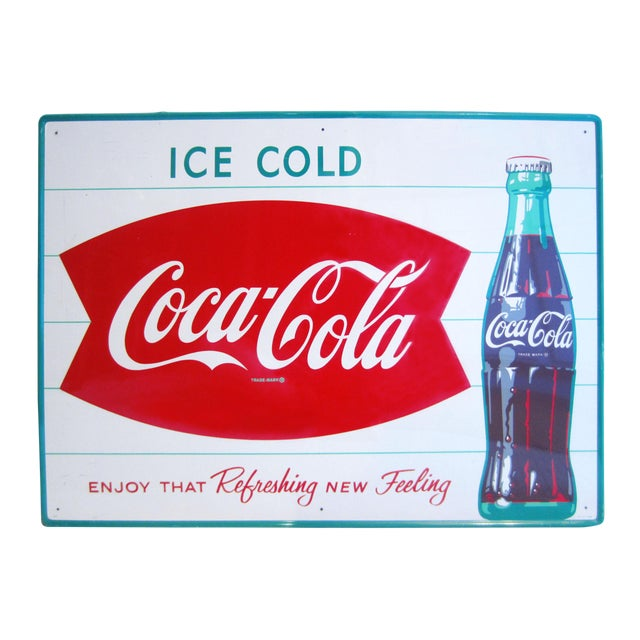 Vintage Coca-Cola Advertising Sign - Image 1 of 8