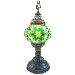 Handmade Green Mosaic Table Lamp