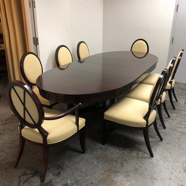 Barbara Barry Oval Dining Table & 8 Chairs for Baker - Set of 9 - Image 2 of 8