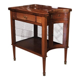 Late 18th Century walnut liquor bar with folding leaves