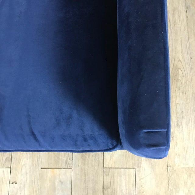 Image of Royal Blue Velvet Sofa