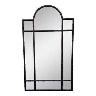 Huge Paul Ferrante Black Iron Bamboo Pier Mirror