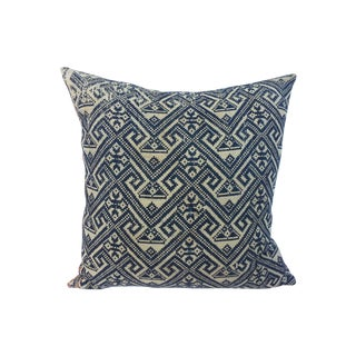 Burmese Embroidered Tribal Pillow