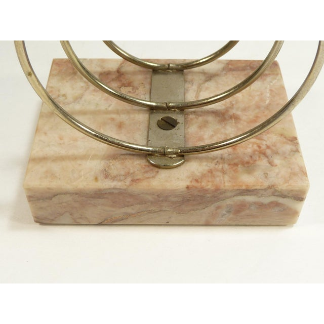 Vintage Retro Mid-Century Letter Organizer Chrome Rings on Marble - Image 6 of 7