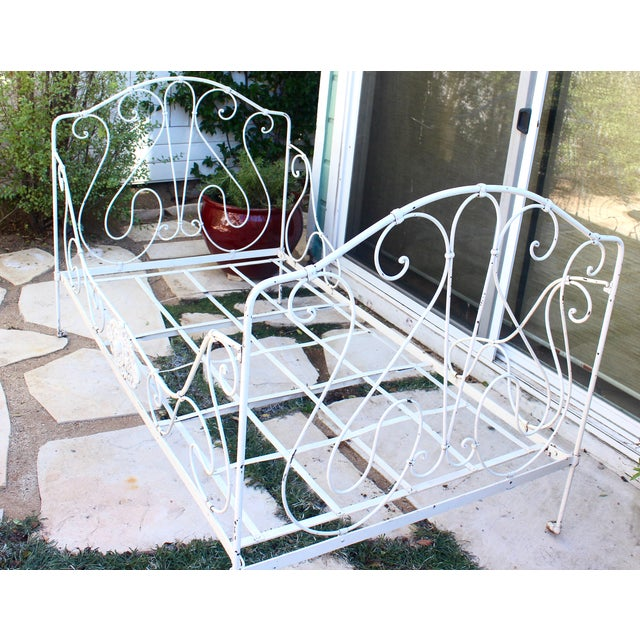 Image of Antique French Provincial Wrought Iron Daybed