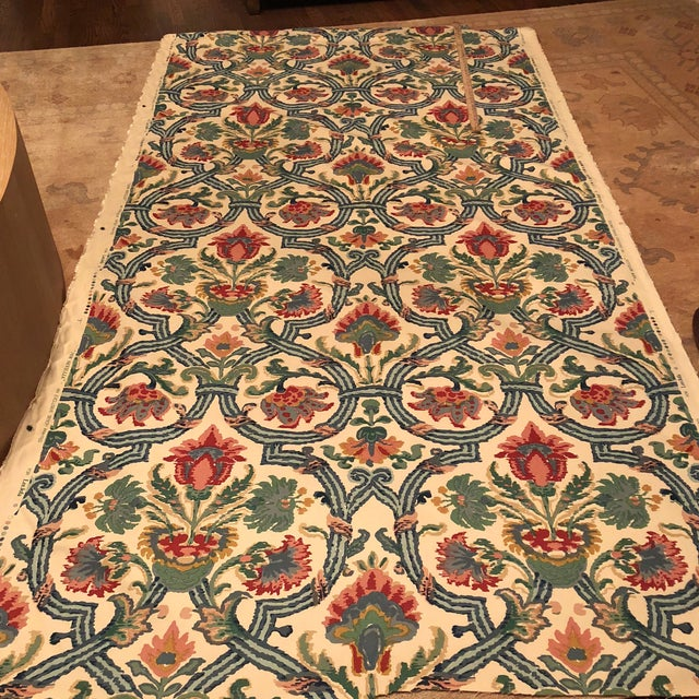 """Lee Jofa's """"New Sevilla"""" in Multi Linen Fabric - Almost 3 Yds - Image 7 of 7"""