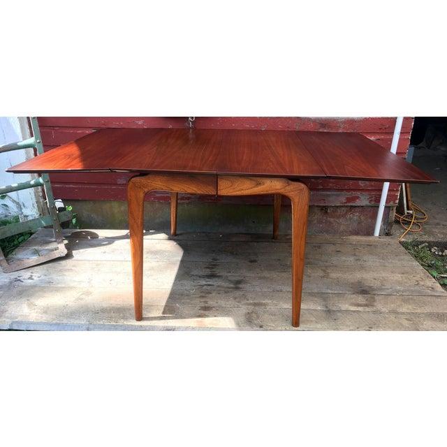 Mid Century Modern Lane Perception Drop Leaf Dining Table