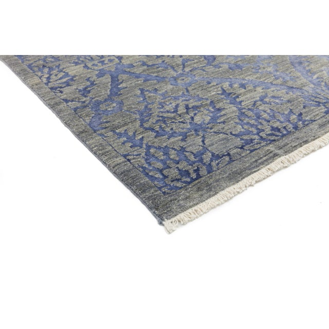 """Contemporary Hand Knotted Area Rug -- 4' X 6'5"""" - Image 2 of 3"""