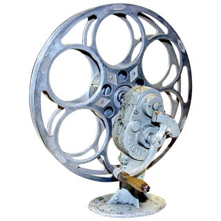 Cinema Rewind With Vintage Film Reel Circa 1930 As Sculpture & Sold With 35MM ilm