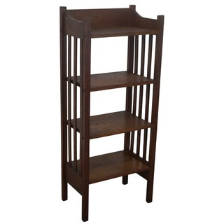 Antique Mission Style 4-Tier Oak Bookstand